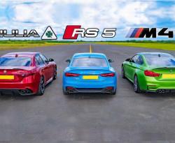 Бясна драг битка между Audi, BMW и Alfa Romeo ВИДЕО